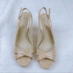 Lauren Ralph Lauren Strappy Leather Heel